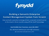 Building a semantic content management system from scratch
