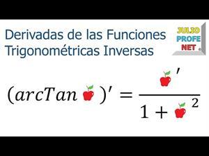Reglas para derivar funciones trigonométricas inversas.