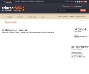 La Revolución Francesa (Educarchile)