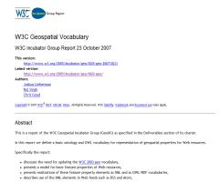 W3C Geospatial Vocabulary