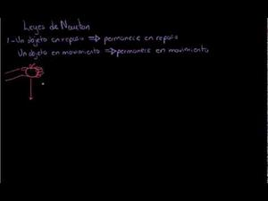 Primera Ley de Newton (Khan Academy Español)