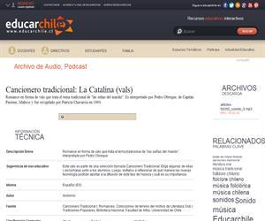 Cancionero tradicional: La Catalina -vals- (Educarchile)