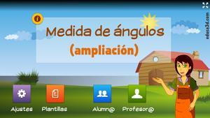 Medidas de ángulos (ampliación) - Unidad interactiva