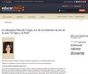 """Marcela Vargas: uso de la serie """"El Ogro y el Pollo"""" (Educarchile)"""