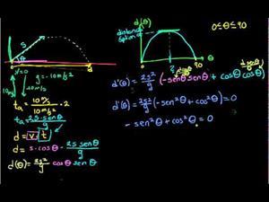 Angulo óptimo de proyectil parte 4 (Khan Academy Español)