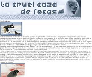 La cruel caza de focas