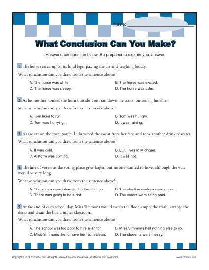 What Conclusion Can You Make?