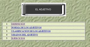 El adjetivo. I.E.S. Sierra de San Pedro