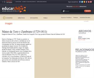 Mateo de Toro y Zambrano (1725-1811) (Educarchile)