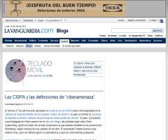 """Ley CISPA y las definiciones de """"ciberamenaza"""""""
