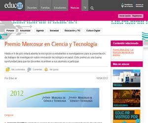 Premio Mercosur en Ciencia y Tecnología