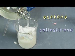 Experimentos con poliestireno y acetona