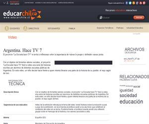 Argentina. Hace TV 7 (Educarchile)