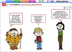 Experiencias independientes. Matemáticas para 4º de Secundaria