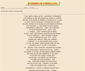 111ª Ficha de ortografía de Don Quijote de la Mancha