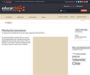 Muchachas pascuenses (Educarchile)