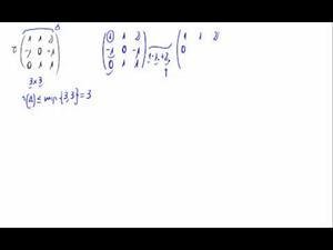 Rango de una matriz haciendo ceros