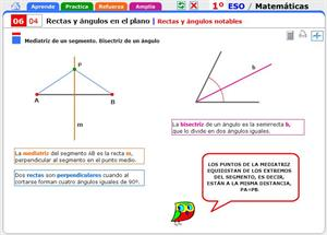 Rectas y ángulos notables. Matemáticas para 1º de Secundaria