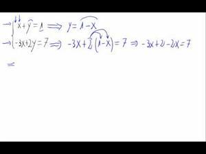 Sistema de ecuaciones (método de sustitución)