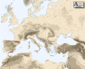 Mapa físico de Europa (euratlas.com)