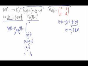 Matriz de una aplicación lineal respecto de una base por definición
