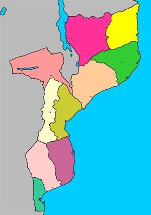 Mapa interactivo de Mozambique: provincias y capitales (luventicus.org)