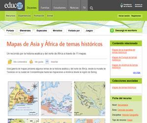 Mapas de temas históricos