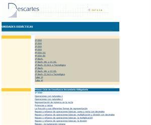Unidades didácticas del Proyecto Descartes