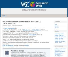 W3C Solicita Comentarios para el primer borrador del RDFa Core 1.1, XHTML+RDFa 1.1
