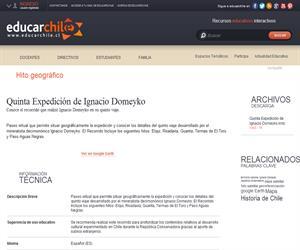 Quinta Expedición de Ignacio Domeyko (Educarchile)