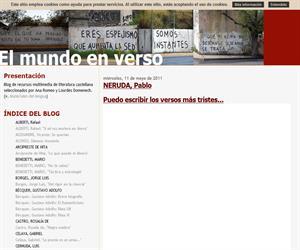 El mundo en verso, blog de literatura castellana