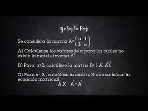 Ejercicio #PAU matrices #YSTP