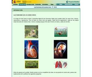 Funciones de los seres vivos (Proyecto Biosfera)