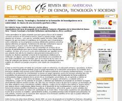 Ciencia, Tecnología y Sociedad en la formación de investigadores en la universidad. En busca de una necesaria apertura crítica (Revistacts)