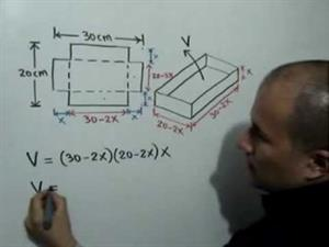 Volumen de una caja en función de X (JulioProfe)