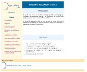 Polígonos regulares, círculo y circunferencia (Descartes)