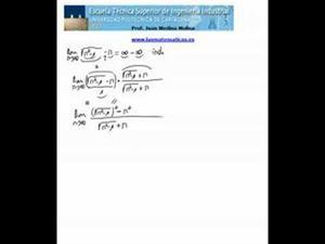 Cálculo de un límite (ind. inf - inf)