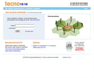 Página sobre tecnología