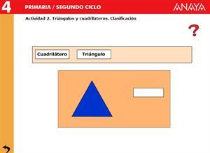 Las figuras planas. Clasificación de triángulos y cuadriláteros. Editorial Anaya