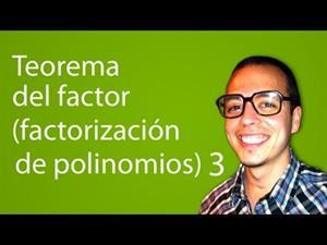 Teorema del factor (factorización de polinomios) 3 (Tareas Plus)