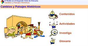Cambios y paisajes históricos, lecciones interactivas de historia