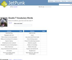 Double T Vocabulary Words
