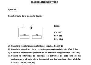 Ejercicios resueltos de circuitos eléctricos ( IES El Majuelo)