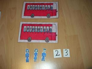 El autobús decena. Números del 1 al 10