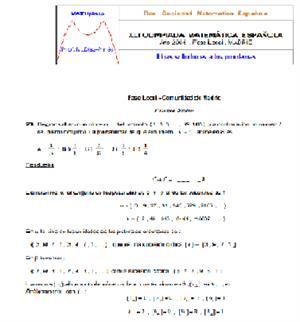 Olimpiadas Matemáticas (ejercicios resueltos)