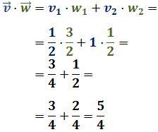 Producto escalar de vectores de R²