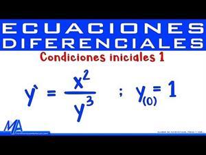 Ecuación diferencial con condiciones iniciales