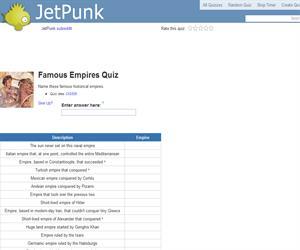 Famous Empires Quiz
