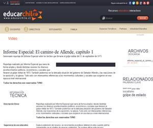 Informe Especial: El camino de Allende, capítulo 1 (Educarchile)