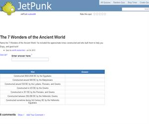 The 7 Wonders of the Ancient World